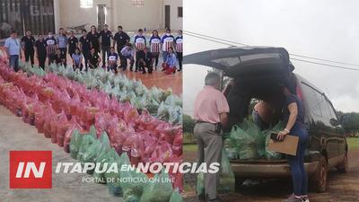 MUNICIPALIDAD DE TOMÁS R. PEREIRA LLEGA CON ALIMENTOS A FAMILIAS.