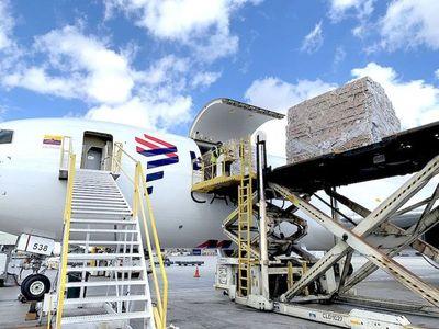 Movimiento de cargas aéreas se redujo el 3% en marzo