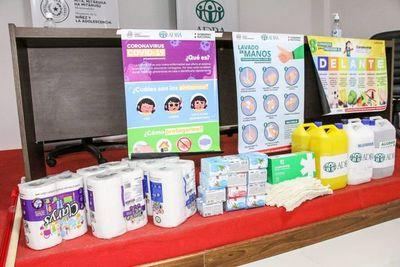 Ministerio de la Niñez recibe importante donación de kits de higiene