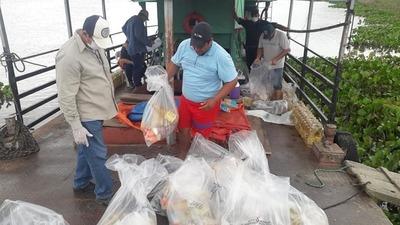 Puerto Casado: Vecinos reclaman que víveres no condicen con el valor de Gs 500.000