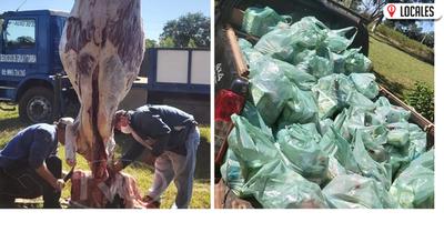 En Nueva Alborada: Hermanos faenaron un animal vacuno para ayudar a más de 100 familias