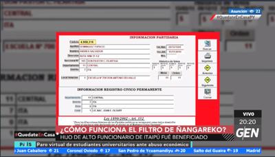 Funcionario de Itaipú gana G. 30 millones al mes y su hijo aparece como beneficiario de Ñangareko