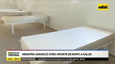Ministro anunció otro aporte de MOPC a salud