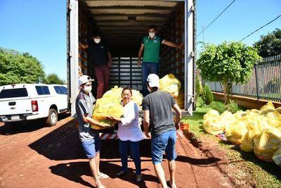 Distribuyen 30.000 kilos de alimentos en Alto Paraná