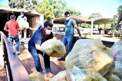 Entregan más 30 mil kilos de alimentos en Alto Paraná
