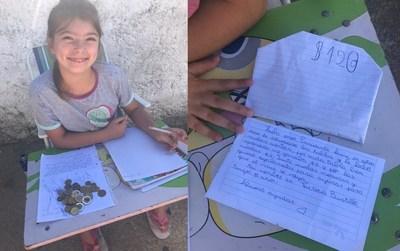 """Uruguay: niña de 8 años dona sus """"ahorros"""" para que el coronavirus """"se vaya"""""""