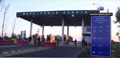 Familia entera y 8 jóvenes detenidos tras regresar del interior a la capital