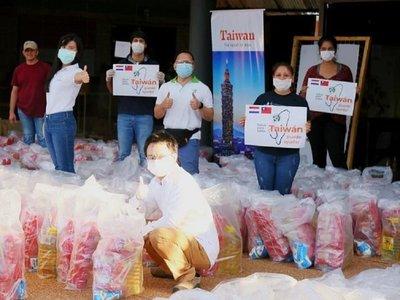 Taiwán dona 600 kits de alimentos para artesanos del IPA