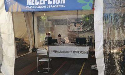 Hospital de Barrio Obrero ya atendió a más de 200 pacientes respiratorios