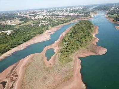 Bajante del río Paraná afecta comercio internacional y producción de Itaipú y Yacyretá
