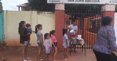 Frente a la crisis, mamás de la escuela San Juan Bautista se organizan para alimentar