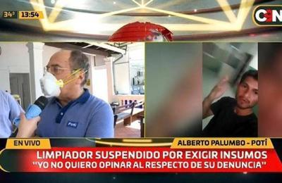 Caso limpiador suspendido por exigir insumos: Empresa Potî da su versión.