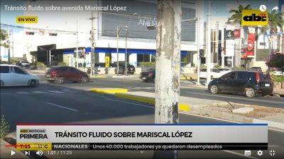 Circulan como si nada sobre avenida Mariscal López