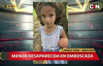 Buscan a niña de siete años desaparecida en Emboscada