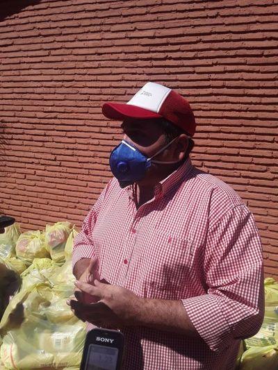 La municipalidad entrega kits de alimentos a escuelas de Horqueta