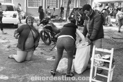 Autoridades municipales de Horqueta entregaron kits de alimentos a cuatro escuelas de la zona urbana