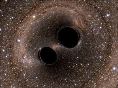 Descubren una onda gravitacional de la fusión de dos agujeros negros