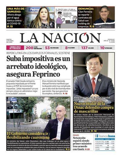 Edición impresa, 21 de abril del 2020