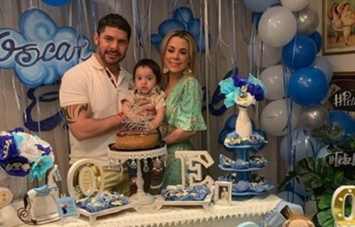 Celebraron el primer añito del hijo de Lizarella y Nenecho con un acto solidario