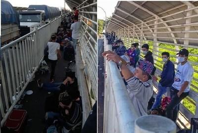 Casi 230 paraguayos están varados sobre el Puente de la Amistad. Urgen ingresar al país