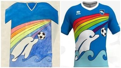Anuncian camiseta nueva con diseño de un niño de seis años