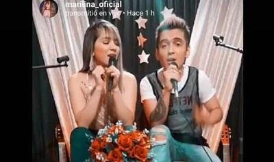 Marilina y Will Fretes transmitieron en vivo y alcanzaron más de 31 mil espectadores
