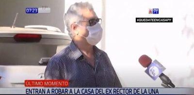 Exrector Froilán Peralta sufre robo en su casa