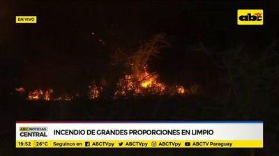 Incendio de grandes proporciones en Limpio