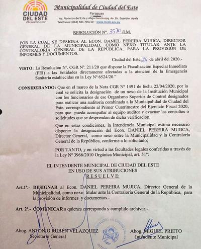 Comuna prepara informes para presentar a la CGR