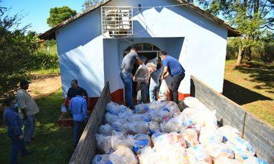 En tres semanas ITAIPU entregó más de 208.000 kg de alimentos en el Alto Paraná