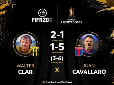 "Guaraní y Tigre ""cumplen"" el partido de la Libertadores en FIFA20"
