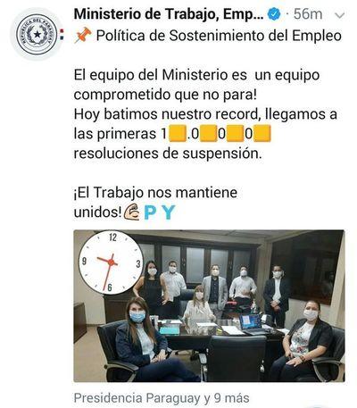 """Ministerio del Empleo se """"jacta"""" de las suspensiones"""