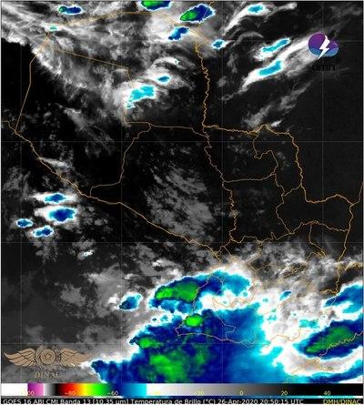 Anuncian clima inestable para la tarde en el sur