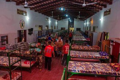 Habilitan albergue en el Comando de Artillería de Paraguarí