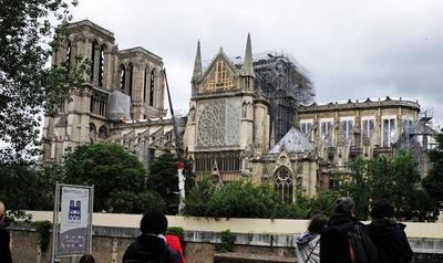 Reanudan trabajos de reconstrucción de la catedral de Notre Dame