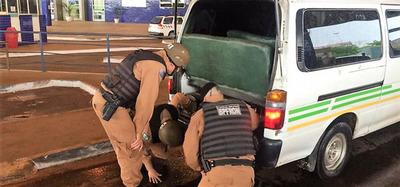 CURSO para decomisar CONTRABANDO realizó la POLICIA del BRASIL en el PUENTE de la AMISTAD