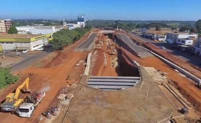 Obra del multiviaducto del Km 7 presenta avance del 40%