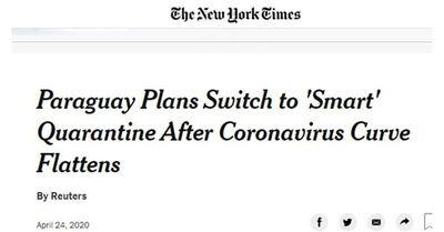 The New York Times destaca a Paraguay en la lucha contra el Covid-19