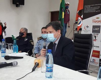 Ministro del Interior se reunió con comerciantes de Pedro Juan Caballero