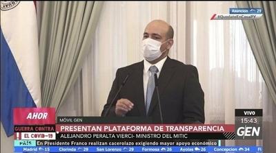 """HOY / """"El valor de la plataforma es el proceso de rendición de cuentas al pueblo paraguayo"""", Alejandro Peralta Vierci, ministro de la Mitic"""