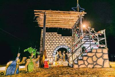 Comunidad del barrio Don Bosco de Ciudad del Este armaron espectacular pesebre