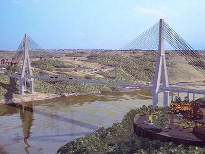 Alistan terreno de base para una de las torres principales del segundo puente con Brasil