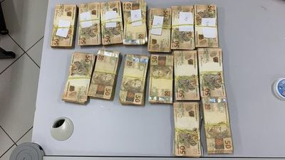 Camioneros intentaban entrar a Brasil con aparatos electrónicos y fajos de dinero