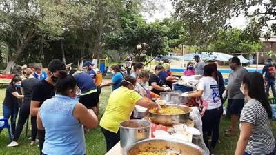 Luqueños festejan 99 años del Chanchón con ollas populares • Luque Noticias
