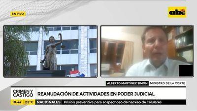 Reanudación de actividades en poder judicial