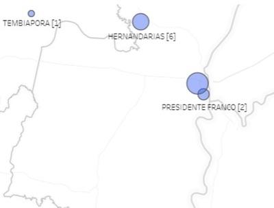 Hernandarias, CDE y Franco con casos confirmados