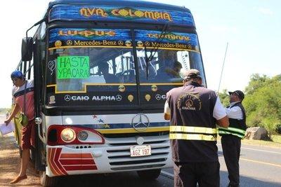 Desde el lunes operarán buses de corta distancia de la Dinatran