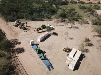 Continúa construcción del campamento de obras en la ruta Pozo Colorado a Concepción