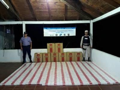 Decomisan 4 mil gruesas de cigarrillo paraguayo