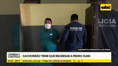 Cachorrão tiene que regresar a Pedro Juan